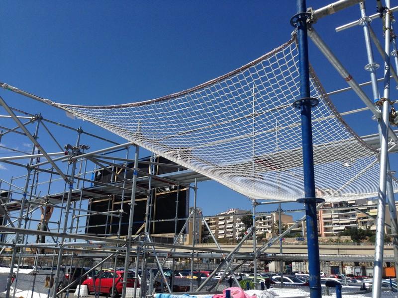 δίχτυα ασφαλείας σε κατασκευές