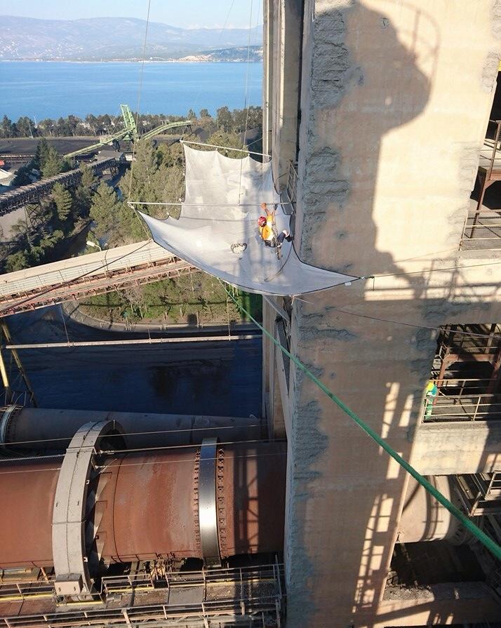 δίχτυα ασφαλείας για εργασία σε ύψος