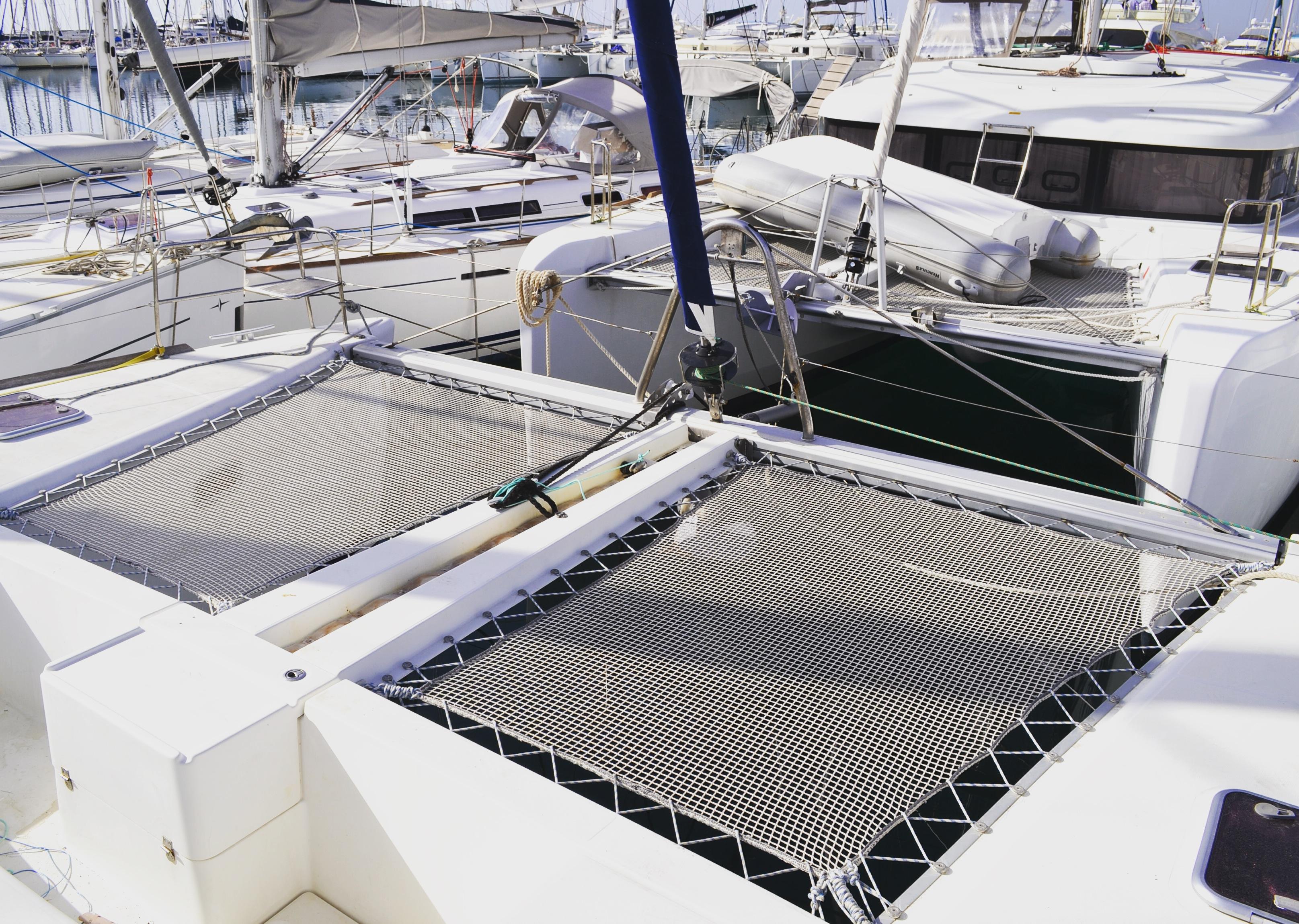 trampoline catamaran net